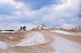 winter sand dune