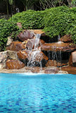 waterfall in the pool