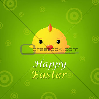 Easter Banner With Chicken