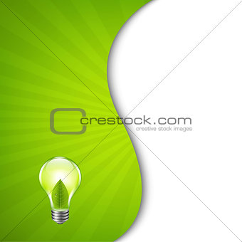 Green Burst Poster With Bulb