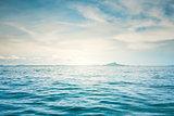 Blue sunny sea