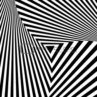 Abstract geometric backdrop in op art  design.