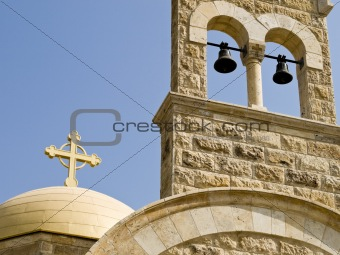 Church detail in Bethany, Jordan