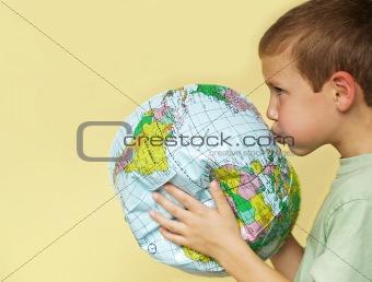 boy reviving earth