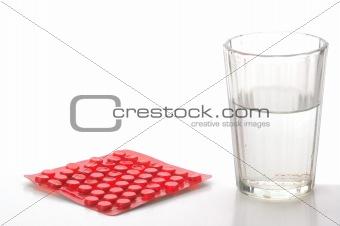 watter and pills