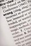 Dictionary Series - Philosophy: wrong