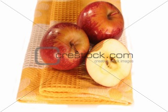 Apples On Cloth