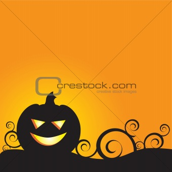 A Glowing Background for Halloween