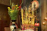 Buddhist Altar and Incense
