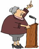 Woman At A Podium