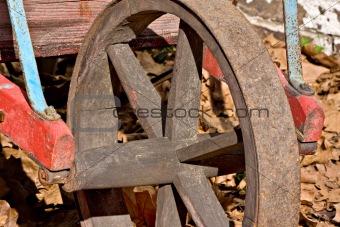 Old wheelbarrow wheel
