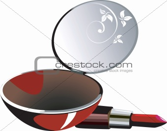 Lipstick  and mirror