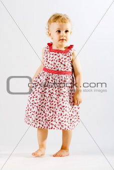 Young adorable girl dressed up