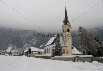 Church in Sachsenburg, Austria