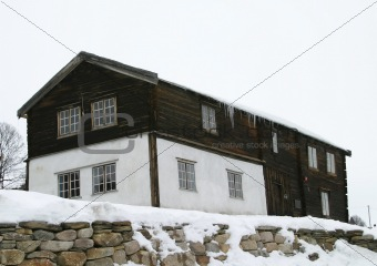 Old vintage building in Roros norway