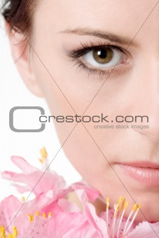 Half of the face of beautiful girl