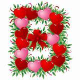 Letter B - Valentine heart letter