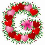 Letter G - Valentine heart letter