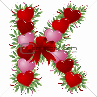 K Letter With Heart Images Gallery images and information: K Letter In Heart