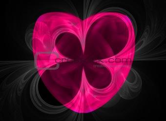 High resolution fractal heart/music/disco theme design