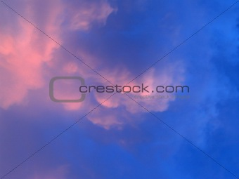 beautiful sky  and  cloud