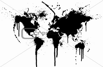 World ink splatter