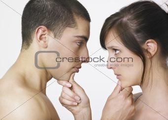 Adoring young couple