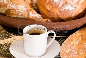 breakfast - assortment of baked bread