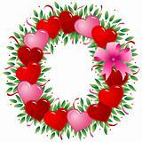 Letter O - Valentine heart letter