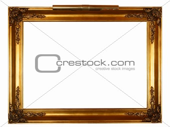 gold frame with lamp