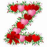 Letter Z - Valentine heart letter