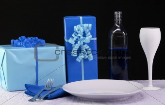 Blue Party Table