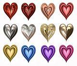 twelve hearts