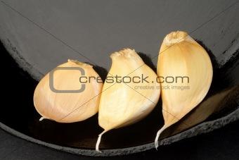 Three cloves of garlic