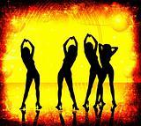 grunge, women dancing