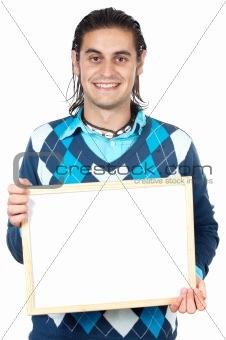 boy with billboard
