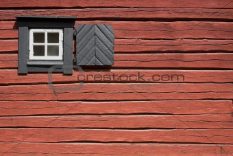 Old red cottage