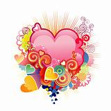 Love heart / valentine&#39;s or wedding / vector