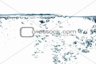 Air bubbles isolated over white