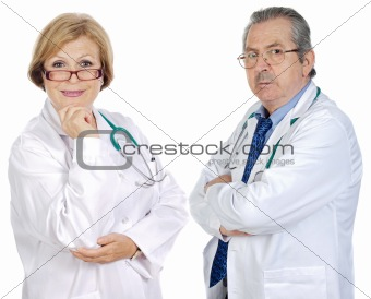 Couple of seniors doctors