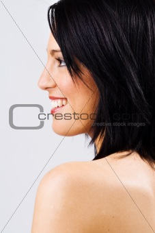 Profile of beautiful young female
