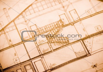 Close up of a blueprint