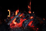fireplace background (fire texture)