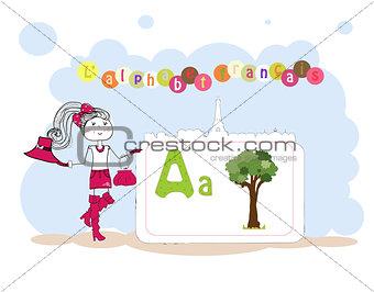 alphabet francais. French alphabet, vector