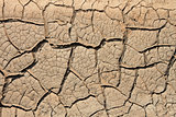 Dried soil with many cracks