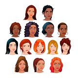 Vector isolated avatars.