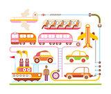Travel & Transport - vector illustration