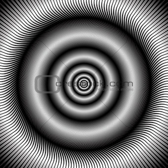 Abstract circular rotation background.