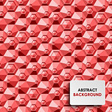Abstract red hexagon background template