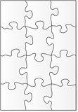 12 piece puzzle template